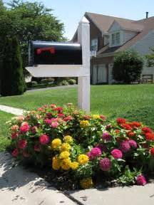 Mailbox Garden Ideas Mailbox Gardening Zinnia Beds For Scorching Summer Color