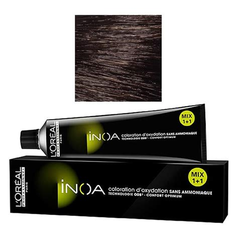 l oreal professional inoa permanent hair color ammonia free 60 ml ebay l oreal inova color no 4