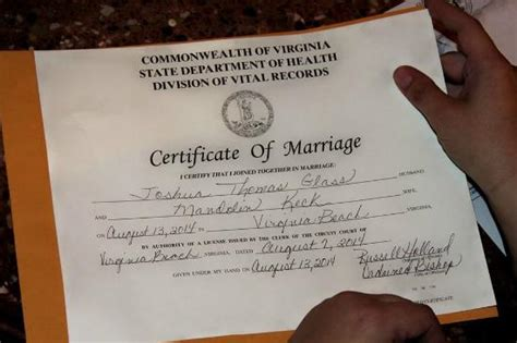 Norfolk Marriage License Records Marriage License Application Virginia Va Houses