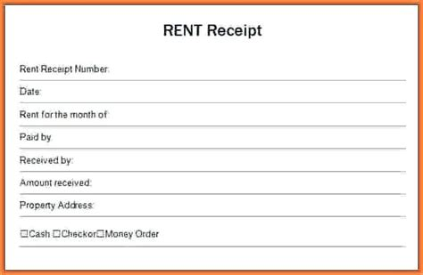 Annual Rent Receipt Template by Rent Receipt Template Virtuart Me
