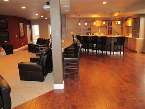 finished basement flooring ideas basement how to finish a basement luck home theater plus basements