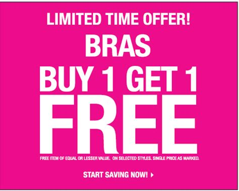 Deals Buy One Sundae Get One Free by La Senza Canada Buy One Get One Free Bras Canadian