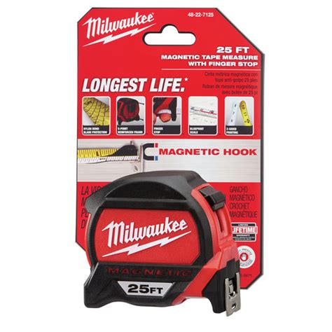 Milwaukee 48 22 7125c 25 Ft Magnetic And Compact Tape