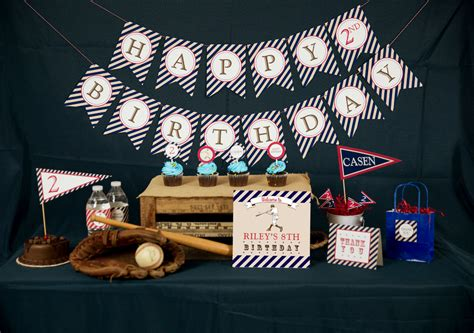 Vintage Baseball Decor by Vintage Baseball Decorations Printable By