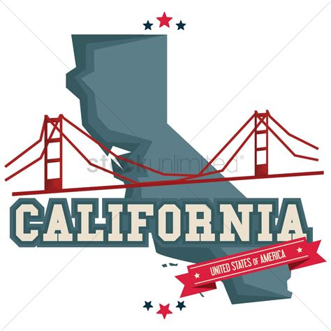 california map graphic california map with golden gate bridge vector image