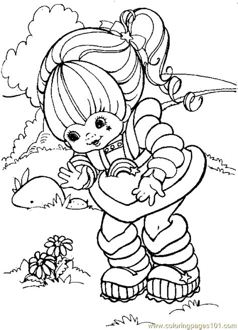 Coloring Pages Rainbow Bright Coloring Page 09 Cartoons Rainbow Brite Coloring Pages