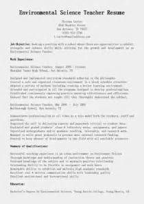 resume sles environmental science resume sle