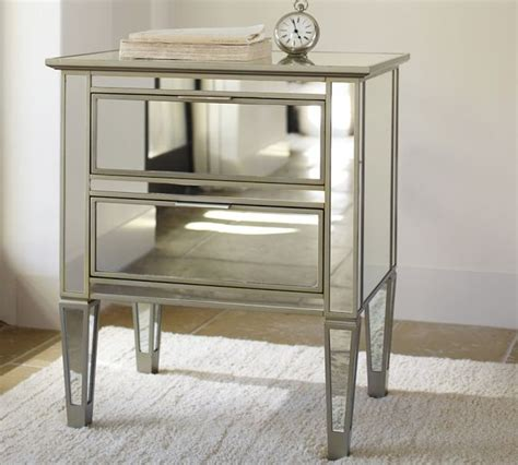 mirror side tables bedroom park mirrored bedside table contemporary nightstands