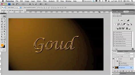 tutorial website maken photoshop gouden tekst photoshop tutorial nl youtube