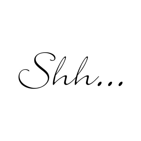shh image shh wall sticker by nutmeg notonthehighstreet