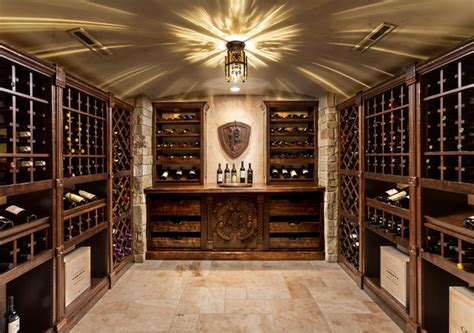 wine cellar in basement basement renovation traditional wine cellar