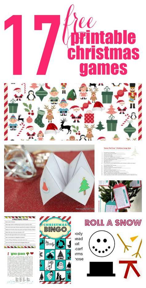 17 free printable christmas games game printable
