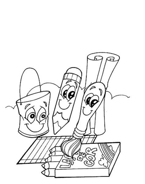 imagenes de objetos de utiles escolares utiles escolares dibujalia dibujos para colorear
