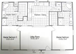2 Master Bedroom Homes Floor Plans For Site Built Mobile And Modular Homes San