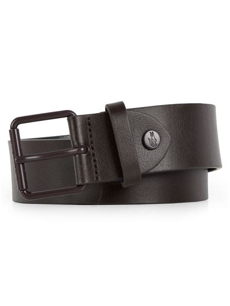 lacoste casual leather belt in brown for lyst
