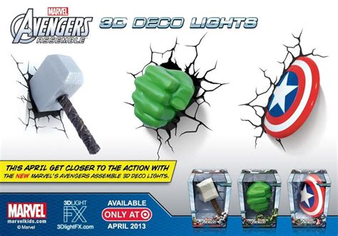 Wall Sticker Avenger 3d Iron Captain America Thor marvel 3d wall light iron captain america thor ebay