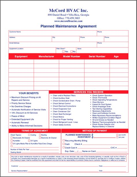 Planned Maintenance Quotes Quotesgram Air Conditioning Service Contract Template
