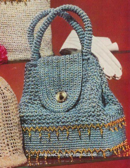 crochet pattern book bag sparkling sailor bag free vintage crochet pattern