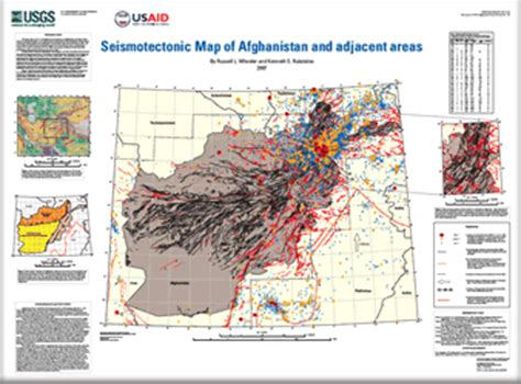 usgs projects in afghanistan 187 earthquake hazards usgs open file report 2007 1104 seismotectonic map of