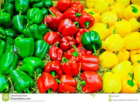 colored peppers colored bell pepper paprika stock photos image 23375353
