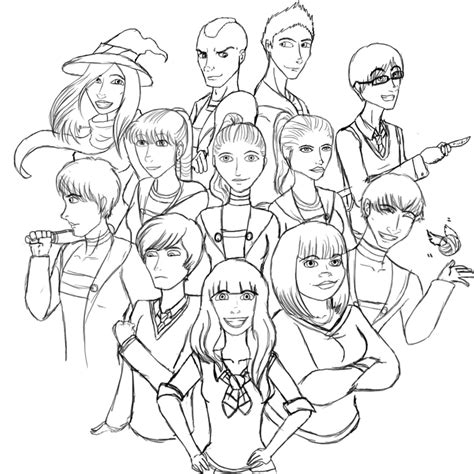 glee cast coloring pages sketch coloring page