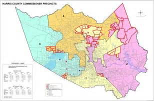 new 1 harris county precinct map
