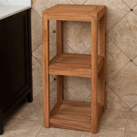 Wood Bathroom Storage Wood Towel Shelf Netchanting