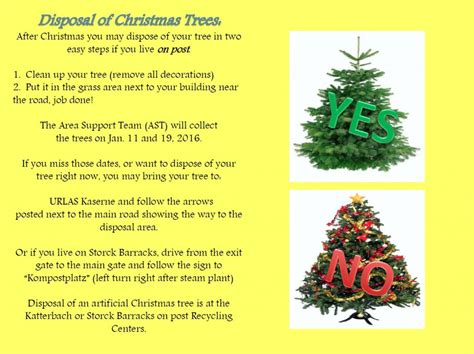 how to dispose of your christmas tree on post or off