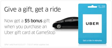 Gamestop Gift Card Discount - get 25 uber discount through gift card purchases at gamestop miles to memories