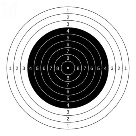 printable targets airguns free printable shooting targets for pistol rifle airgun
