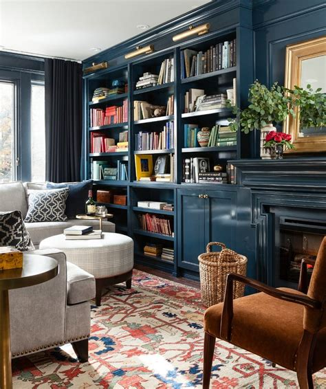Under The Window Bookcase Vintage Aesthetic Family Room Traditional With Modern