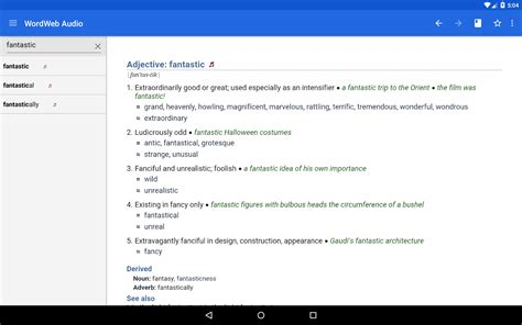 wordweb dictionary apk wordweb audio dictionary android apps on play