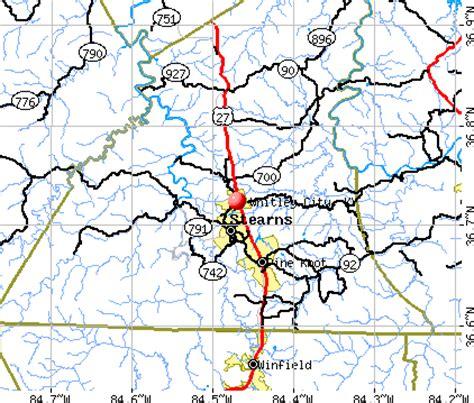 kentucky map corbin whitley city kentucky
