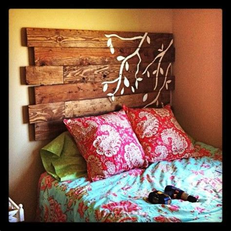 rustic headboards diy rustic pallet headboard diy for the home pinterest