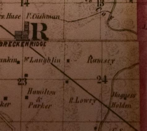 ramsey county half section maps ramsey is rley on this 1859 county atlas rootdig