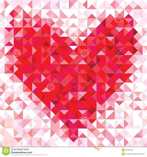 love pattern background vector seamless love pattern of geometric heart royalty free
