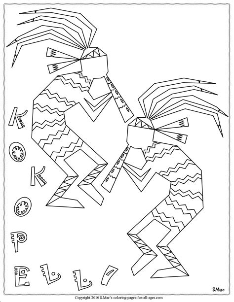 S Mac Coloring Pages by S Mac S Kokopelli Coloring Page Preschool