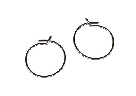 Self Piercing Sleeper Earrings by Plain Titanium Sleeper Earrings