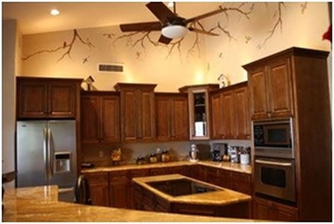 kitchen paint colors with oak cabinets and white appliances