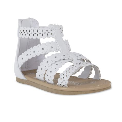 kmart toddler shoes wonderkids toddler hera gladiator white sandal
