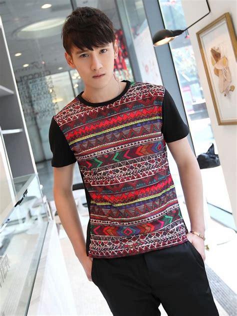 tribal pattern t shirt tribal style men geometric pattern short sleeve t shirt