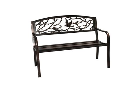 metal bench with back bird back metal bench yarm diy