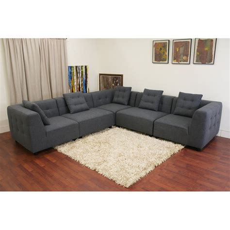 twill sectional buy baxton studio cbell cream twill sectional sofa from