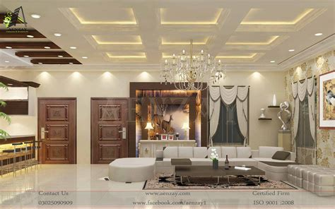 Interior Design by Lounge Area Designs Aenzay Interiors Architecture