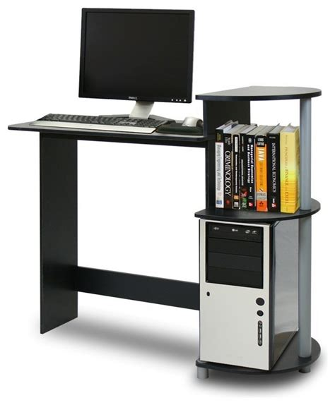 Modern Small Computer Desk Narrow Computer Desk Compact Computer Desk Design For Space Saving With Modern Stylish Look