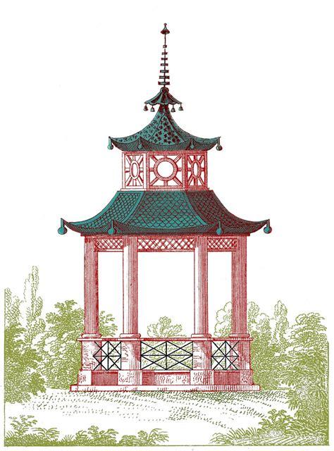 Pagoda Gazebo Antique Garden Graphic Beautiful Pagoda Gazebo The