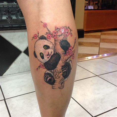 panda tattoo on thigh phantom 8 tattoos flower cherry blossom panda in