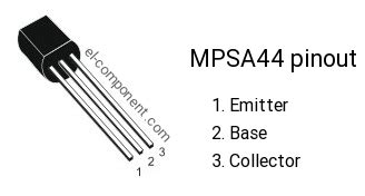 transistor ksp44 equivalent mpsa44 n p n transistor complementary pnp replacement pinout pin configuration substitute