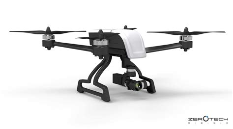 Drone Zerotech zerotech debuts the most compact 4k drone that carries mechanical stabilization gimbal drone