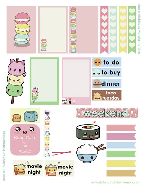kawaii printables for the happy large 8 5x11 victoria